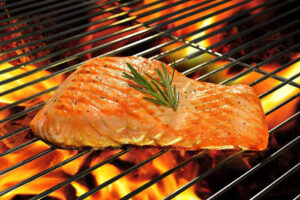 Grilled Salmon with Homemade BBQ